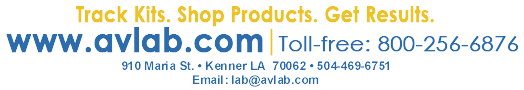 Track kits. Shop products. Get Results. / www.Avlab.com - Toll-free: 800-256-6876